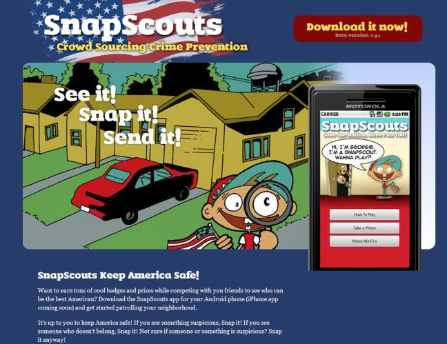 Snap Scouts - If you see something Snap Something - Federalized Youth