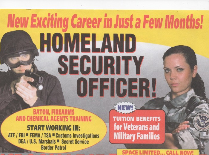 Guns, Batons, Chemical Agents; Become a Homeland PennySaver Officer in a Few Months